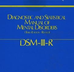 Современное употребление терминов: DSM-IIIR и МКБ-10