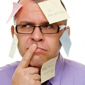 Забывчивость не связана с серьезными психическими проблемами
